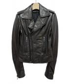 BALENCIAGA(バレンシアガ)の古着「レザーライダースジャケット」 ブラック