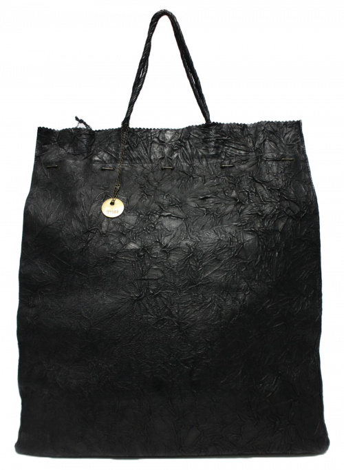 i ro se()i ro se (イロセ) レザートートバッグ ブラックの古着・服飾アイテム