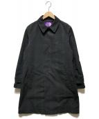 ()の古着「65/35クロスステンカラーコート」 グリーン×ネイビー