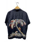 ()の古着「レーヨンアロハシャツ」|ブラック