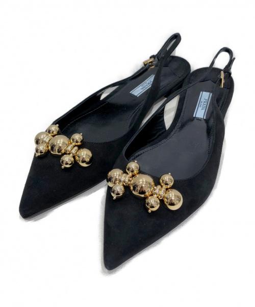 PRADA(プラダ)PRADA (プラダ) ストラップパンプス ブラック サイズ:40の古着・服飾アイテム