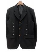 ()の古着「ラウンドスタッズジャケット」 ブラック