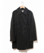 ROBE DE CHAMBRE COMME DES GARCONS(ローブドシャンブル コムデギャルソン)の古着「[OLD]ベロアダブルショートコート」|ブラック