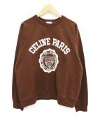 CELINE(セリーヌ)の古着「20SS フロックカシミアクラシックスウェット」 ブラウン