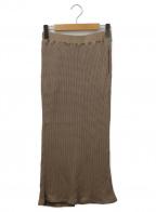 Americana(アメリカーナ)の古着「AMERICANA THERMALスカート」|ベージュ