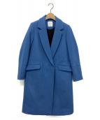 UNITED TOKYO(ユナイテッドトウキョウ)の古着「カシミヤ混チェスターコート」|ブルー