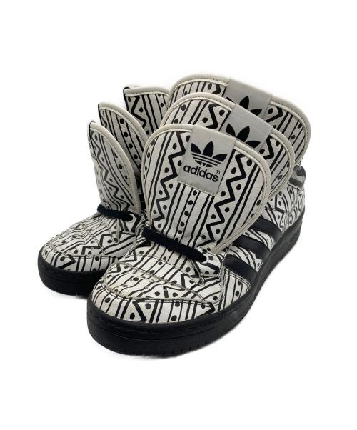 adidas(アディダス)adidas (アディダス) ハイカットスニーカー ブラック×ホワイト サイズ:27.5 G00887 ×JEREMY SCOTT コラボの古着・服飾アイテム