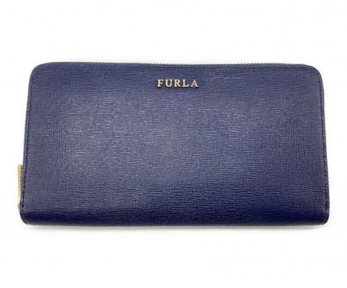 FURLA(フルラ)FURLA (フルラ) 長財布 ネイビーの古着・服飾アイテム