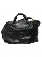 Jas-M.B.(ジャスエムビー)の古着「3WAYレザーショルダーバッグ」 ブラック