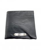 PATRICK STEPHAN(パトリック ステファン)の古着「2つ折り財布」 ブラック