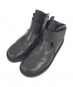 Trippen(トリッペン)の古着「レザーショートブーツ」 ブラック