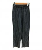 STEVEN ALAN(スティーブンアラン)の古着「SHINY GATHER PANTS」|ネイビー