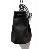 MORMYRUS(モルミルス)の古着「レザー巾着バッグ」|ブラック