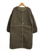 La MODE(ラモード)の古着「キルティングノーカラーコート」 グレー