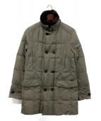 MOORER(ムーレー)の古着「ファーカラー付きダウンコート」|グレー