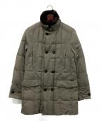 MOORER(ムーレー)の古着「ファーカラー付きダウンコート」 グレー