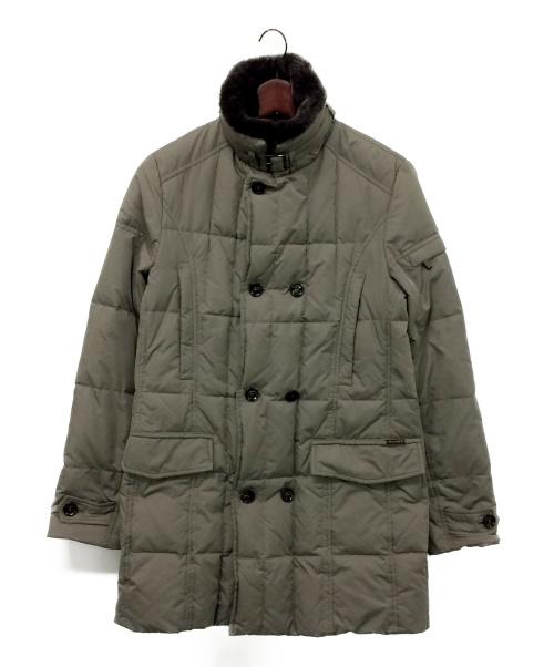MOORER(ムーレー)MOORER (ムーレー) ファーカラー付きダウンコート グレー サイズ:46 MORRIS-KMの古着・服飾アイテム