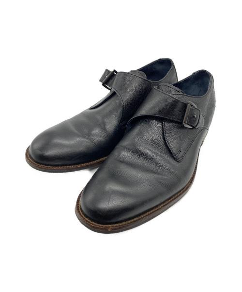 COLE HAAN(コールハーン)COLE HAAN (コールハーン) モンクストラップシューズ ブラック サイズ:9の古着・服飾アイテム