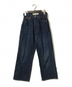 THE SHINZONE(ザ シンゾーン)の古着「ハイウエストデニムパンツ」|ブルー