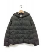 自由区(ジユウク)の古着「サテンタフタショート丈ダウンコート」|ブラウン