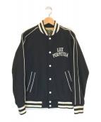 ()の古着「ウール混スタジャン」|ブラック