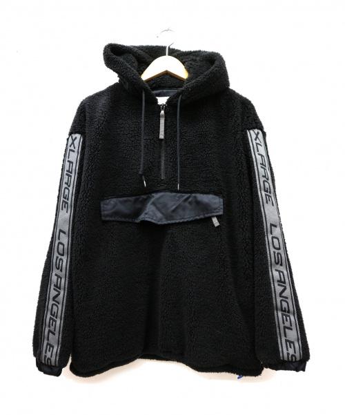 X-LARGE(エクストララージ)X-LARGE (エクストララージ) アノラックボアフリースパーカー ブラック サイズ:Sの古着・服飾アイテム