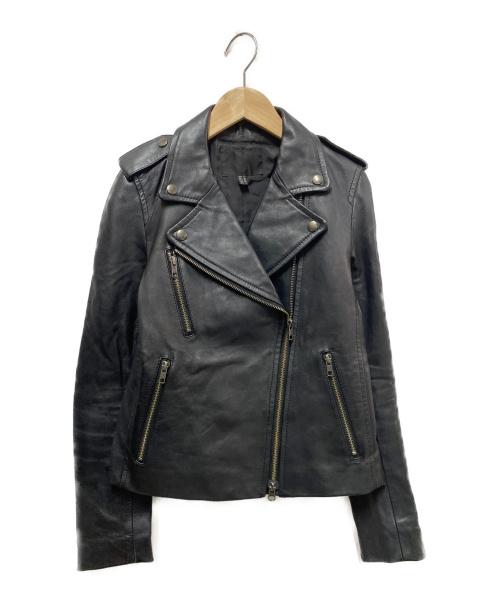 icB(アイシービー)icB (アイシービー) ダブルライダースジャケット ブラック サイズ:9の古着・服飾アイテム