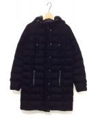 ()の古着「ベロアダウンコート」|ブラック