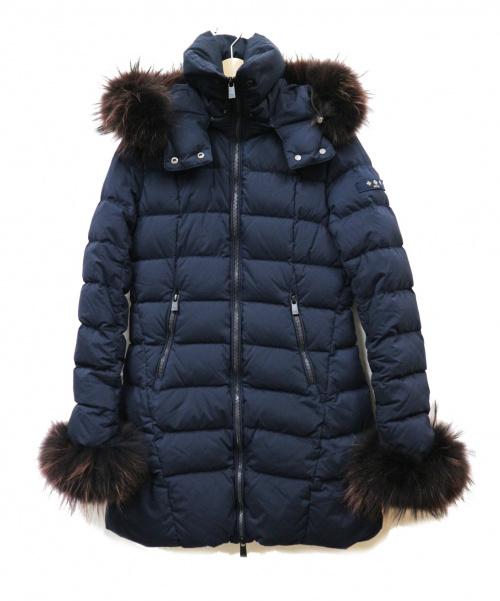 TATRAS(タトラス)TATRAS (タトラス) ファー付ダウンコート ネイビー サイズ:1の古着・服飾アイテム
