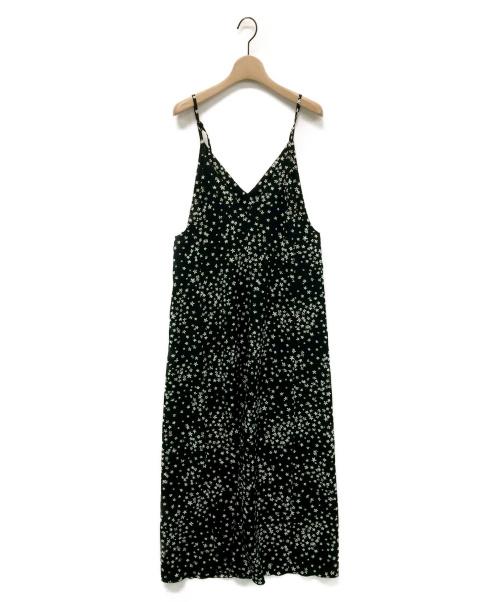 IENA(イエナ)IENA (イエナ) フラワープリントキャミワンピース ブラック サイズ:38の古着・服飾アイテム