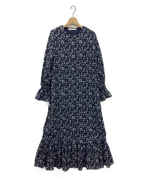 MARIHA(マリハ)MARIHA (マリハ) フラワープリントブラウスワンピース ネイビー サイズ:-の古着・服飾アイテム