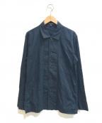 ANN DEMEULEMEESTER(アンドゥムルメステール)の古着「[OLD]フレンチワークシャツジャケット」|ブラック
