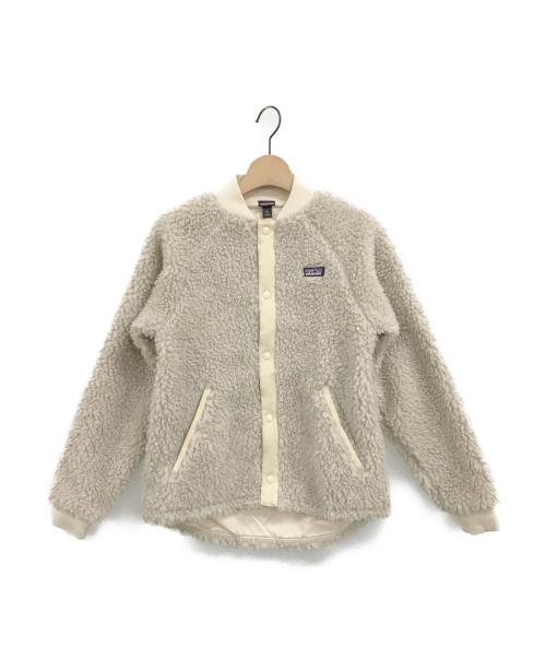 Patagonia(パタゴニア)Patagonia (パタゴニア) ガールズレトロXボマージャケット ベージュ サイズ:XL(14) 未使用品の古着・服飾アイテム