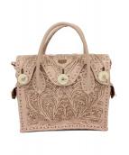 ()の古着「マエストラ ハンドバッグ」|ピンク