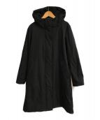()の古着「ストレッチツイルフーデッドコート」|ブラック