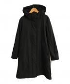 la.f(ラ・エフ)の古着「ストレッチツイルフーデッドコート」|ブラック