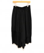 Y's(ワイズ)の古着「デシン裾テレコサルエルパンツ」|ブラック