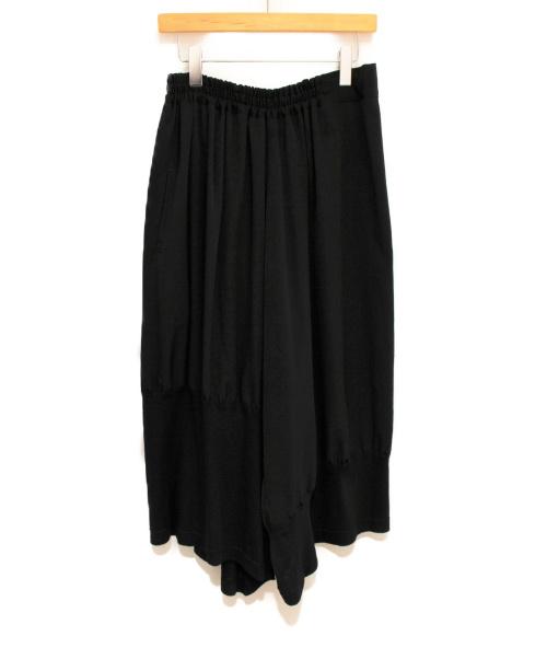 Y's(ワイズ)Y's (ワイズ) デシン裾テレコサルエルパンツ ブラック サイズ:2の古着・服飾アイテム