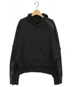 B Yohji Yamamoto(ビーヨウジヤマモト)の古着「ハイネックスウェット」 ブラック