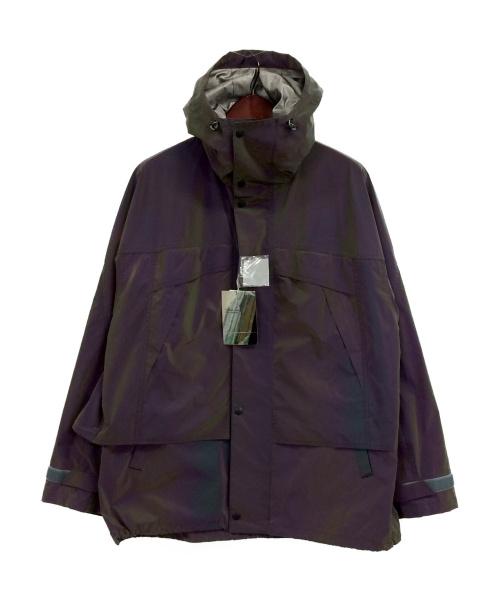 TOGA VIRILIS(トーガヴィリリース)TOGA VIRILIS (トーガ ヴィリリース) Iridescent taffeta blouson パープル サイズ:48の古着・服飾アイテム