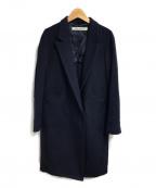 TARO HORIUCHI(タロウホリウチ)の古着「カシミヤブレンドチェスターコート」 ネイビー