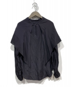 LOEFF(ロエフ)の古着「シルクレーヨンスカーフシャツ」|ブラック