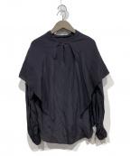 LOEFF(ロエフ)の古着「シルクレーヨンスカーフシャツ」 ブラック