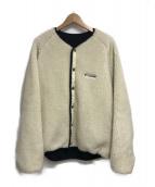 ()の古着「リバーシブルボアフリースジャケット」|アイボリー×ブラック