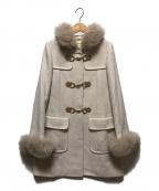 LAISSE PASSE(レッセパッセ)の古着「フォックスファー付ダッフルコート」|ベージュ