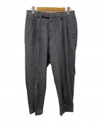COMOLI(コモリ)の古着「リネンウールタックパンツ」|グレー