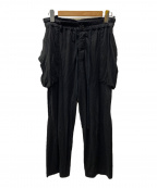 ATTACHMENT(アタッチメント)の古着「ビッグポケットパンツ」 ブラック