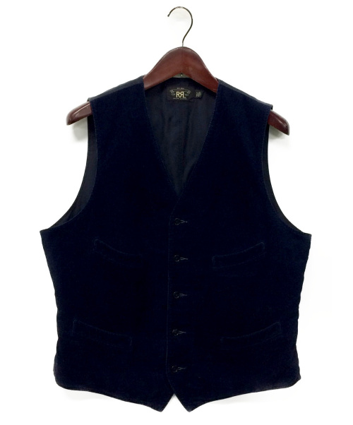 RRL(ダブルアールエル)RRL (ダブルアールエル) コーデュロイ切替ジレ ネイビー サイズ:Lの古着・服飾アイテム