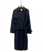 Rose Tiara(ローズティアラ)の古着「バックプリーツトレンチコート」|ネイビー