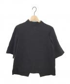 AKIRA NAKA(アキラナカ)の古着「ハイネックブラウス」|ブラック